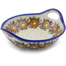 13-inch Stoneware Bowl with Handles - Polmedia Polish Pottery H0589F