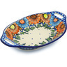 13-inch Stoneware Bowl with Handles - Polmedia Polish Pottery H0766H