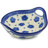 13-inch Stoneware Bowl with Handles - Polmedia Polish Pottery H0777H