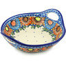 13-inch Stoneware Bowl with Handles - Polmedia Polish Pottery H0975H
