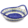 13-inch Stoneware Bowl with Handles - Polmedia Polish Pottery H1406J