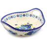 13-inch Stoneware Bowl with Handles - Polmedia Polish Pottery H1407J