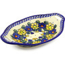 13-inch Stoneware Bowl with Handles - Polmedia Polish Pottery H1718G