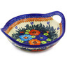 13-inch Stoneware Bowl with Handles - Polmedia Polish Pottery H2034G