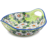 13-inch Stoneware Bowl with Handles - Polmedia Polish Pottery H2313J