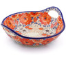 13-inch Stoneware Bowl with Handles - Polmedia Polish Pottery H2606J
