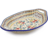 13-inch Stoneware Bowl with Handles - Polmedia Polish Pottery H2673J