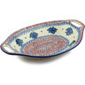 13-inch Stoneware Bowl with Handles - Polmedia Polish Pottery H2842I