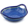 13-inch Stoneware Bowl with Handles - Polmedia Polish Pottery H3061J