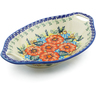 13-inch Stoneware Bowl with Handles - Polmedia Polish Pottery H3116J