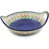 13-inch Stoneware Bowl with Handles - Polmedia Polish Pottery H3761E