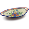 13-inch Stoneware Bowl with Handles - Polmedia Polish Pottery H4065K