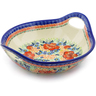 13-inch Stoneware Bowl with Handles - Polmedia Polish Pottery H5041F
