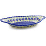13-inch Stoneware Bowl with Handles - Polmedia Polish Pottery H6472J