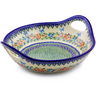 13-inch Stoneware Bowl with Handles - Polmedia Polish Pottery H6975I