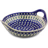 13-inch Stoneware Bowl with Handles - Polmedia Polish Pottery H6985I