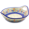 13-inch Stoneware Bowl with Handles - Polmedia Polish Pottery H7288I