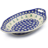 13-inch Stoneware Bowl with Handles - Polmedia Polish Pottery H8717E