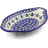 13-inch Stoneware Bowl with Handles - Polmedia Polish Pottery H8718E