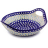 13-inch Stoneware Bowl with Handles - Polmedia Polish Pottery H9141H