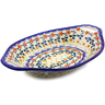 13-inch Stoneware Bowl with Handles - Polmedia Polish Pottery H9232I