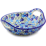 13-inch Stoneware Bowl with Handles - Polmedia Polish Pottery H9770I
