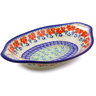 13-inch Stoneware Bowl with Handles - Polmedia Polish Pottery H9879I