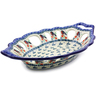 13-inch Stoneware Bowl with Holes - Polmedia Polish Pottery H5452I