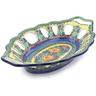 13-inch Stoneware Bowl with Holes - Polmedia Polish Pottery H5454I