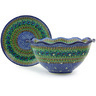 13-inch Stoneware Colander with Plate - Polmedia Polish Pottery H5120G