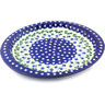 13-inch Stoneware Fluted Oval Platter - Polmedia Polish Pottery H6782G