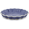 13-inch Stoneware Fluted Pie Dish - Polmedia Polish Pottery H0397D