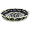 13-inch Stoneware Fluted Pie Dish - Polmedia Polish Pottery H5048C
