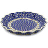 13-inch Stoneware Fluted Pie Dish - Polmedia Polish Pottery H7062D