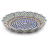 13-inch Stoneware Fluted Pie Dish - Polmedia Polish Pottery H8492C