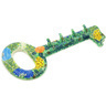 13-inch Stoneware Key Holder - Polmedia Polish Pottery H4995G