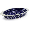 13-inch Stoneware Oval Baker with Handles - Polmedia Polish Pottery H0442D