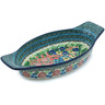 13-inch Stoneware Oval Baker with Handles - Polmedia Polish Pottery H3909H