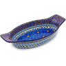 13-inch Stoneware Oval Baker with Handles - Polmedia Polish Pottery H6133G