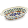 13-inch Stoneware Oval Baker with Handles - Polmedia Polish Pottery H9651F
