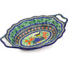 13-inch Stoneware Platter with Handles - Polmedia Polish Pottery H0432G