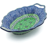 13-inch Stoneware Platter with Handles - Polmedia Polish Pottery H7952I