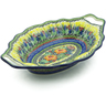 13-inch Stoneware Platter with Handles - Polmedia Polish Pottery H9304I