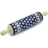 13-inch Stoneware Rolling Pin - Polmedia Polish Pottery H7302G