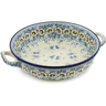 13-inch Stoneware Round Baker with Handles - Polmedia Polish Pottery H1835K