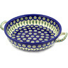 13-inch Stoneware Round Baker with Handles - Polmedia Polish Pottery H2311D