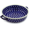 13-inch Stoneware Round Baker with Handles - Polmedia Polish Pottery H4355J