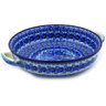 13-inch Stoneware Round Baker with Handles - Polmedia Polish Pottery H4367F