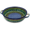 13-inch Stoneware Round Baker with Handles - Polmedia Polish Pottery H5762A