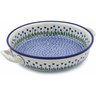 13-inch Stoneware Round Baker with Handles - Polmedia Polish Pottery H7602B
